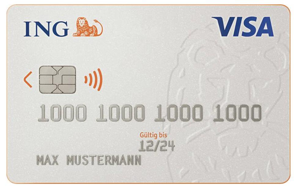 VISA Debit Card von ING DiBa